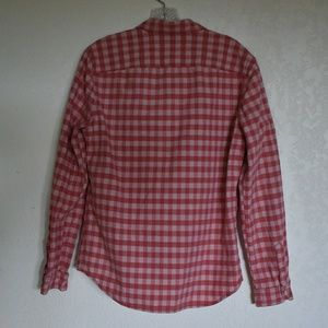 Life After Denim Shirts - Life After Denim red plaid long sleeve, size m.